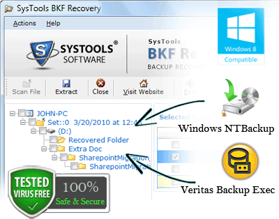 restore ms backup data